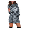 ARANLA Printed Hooded Drawstring Casual Dress