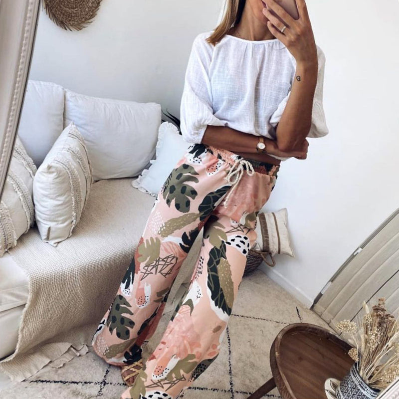 ARANLA Vacation print trousers