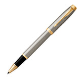 Parker IM Stainless Steel with Gold Trim Rollerball Pen