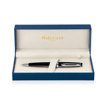 Waterman Expert Black Lacquer Palladium Trim Ballpoint Pen