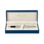 Waterman Hemisphere Stainless Steel 23k Gold Trim Rollerball Pen