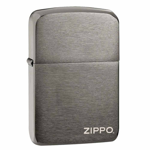 Zippo Black Ice Logo 1941 Replica Lighter