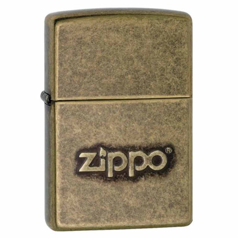 Zippo Antique Brass Stamped Lighter
