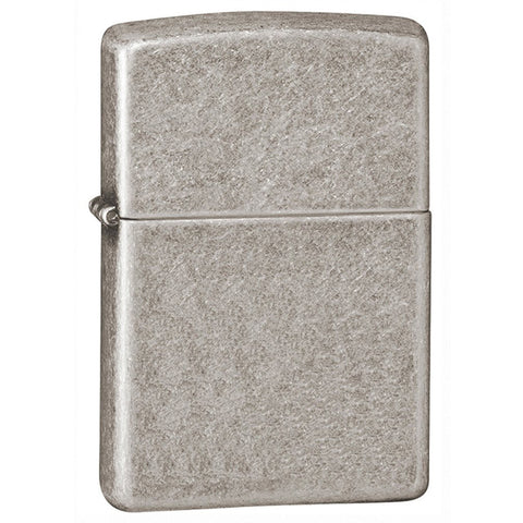 Zippo Armor Antique Silver Plate Lighter