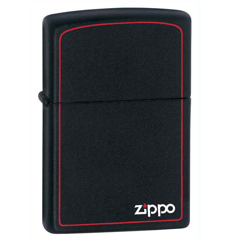 Zippo Black Matte with Border Lighter