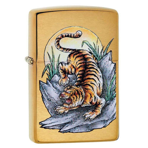 Zippo Tiger Tattoo Brass Lighter