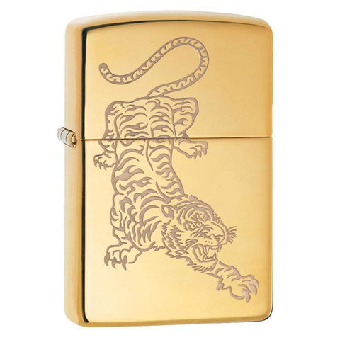Zippo Golden Japanese Tiger Lighter