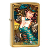 Zippo Brass Industrial Machinery Lady Lighter