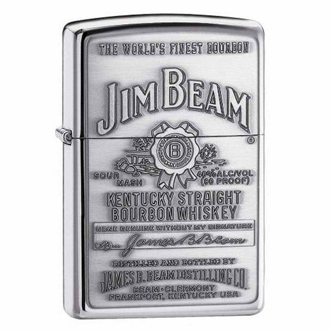 Zippo Jim Beam Pewter Emblem Lighter