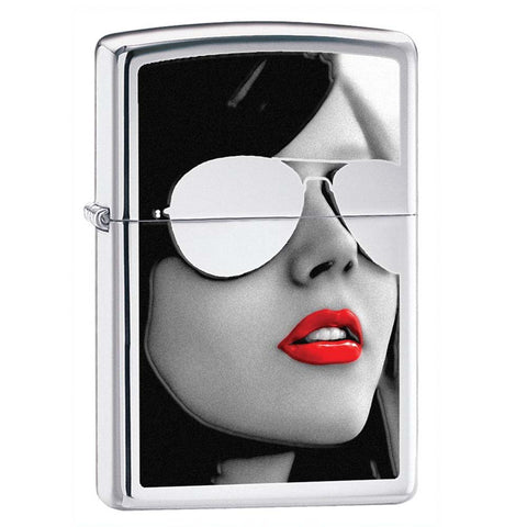 Zippo High Polished Chrome Sunglasses Lighter