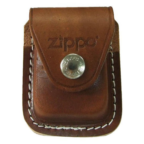 Zippo Brown Leather Pouch with Clip