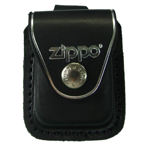 Zippo Black Leather Pouch with Loop
