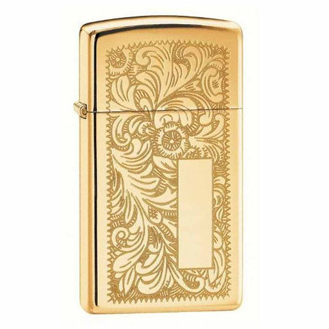 Zippo Slim High Polished Brass Venetian Lighter