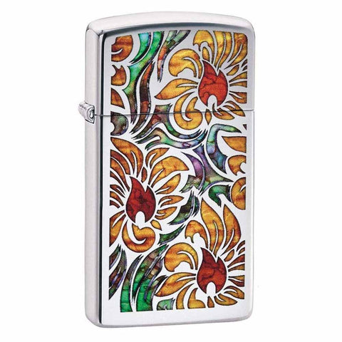 Zippo Slim Fusion Floral Lighter
