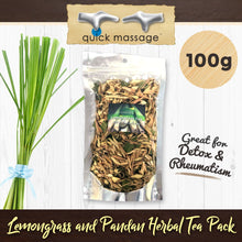 Load image into Gallery viewer, Lemongrass and Pandan Herbal Tea Pack