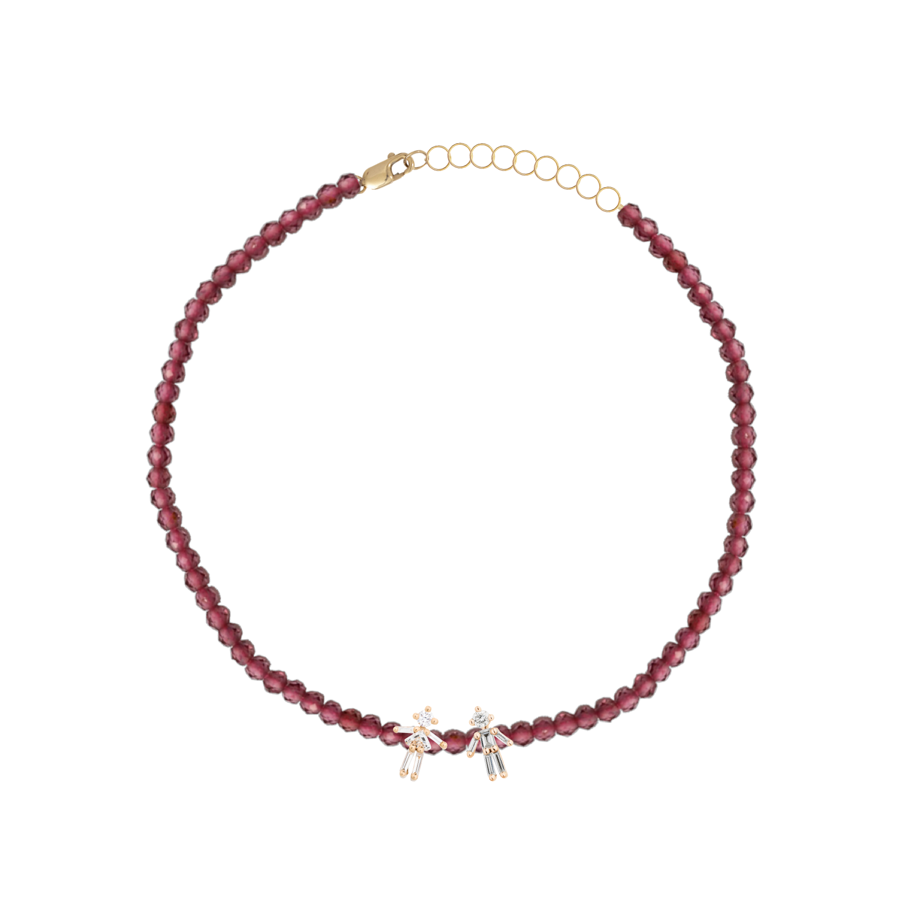 Bracelet rainbow double mixte or jaune / rose / blanc 18Kt et diamants