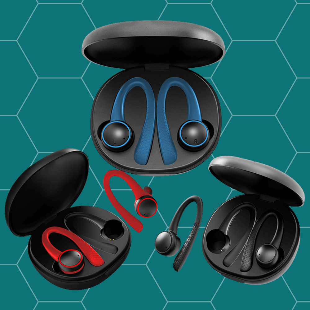 4 different colors of flex t7 earbuds