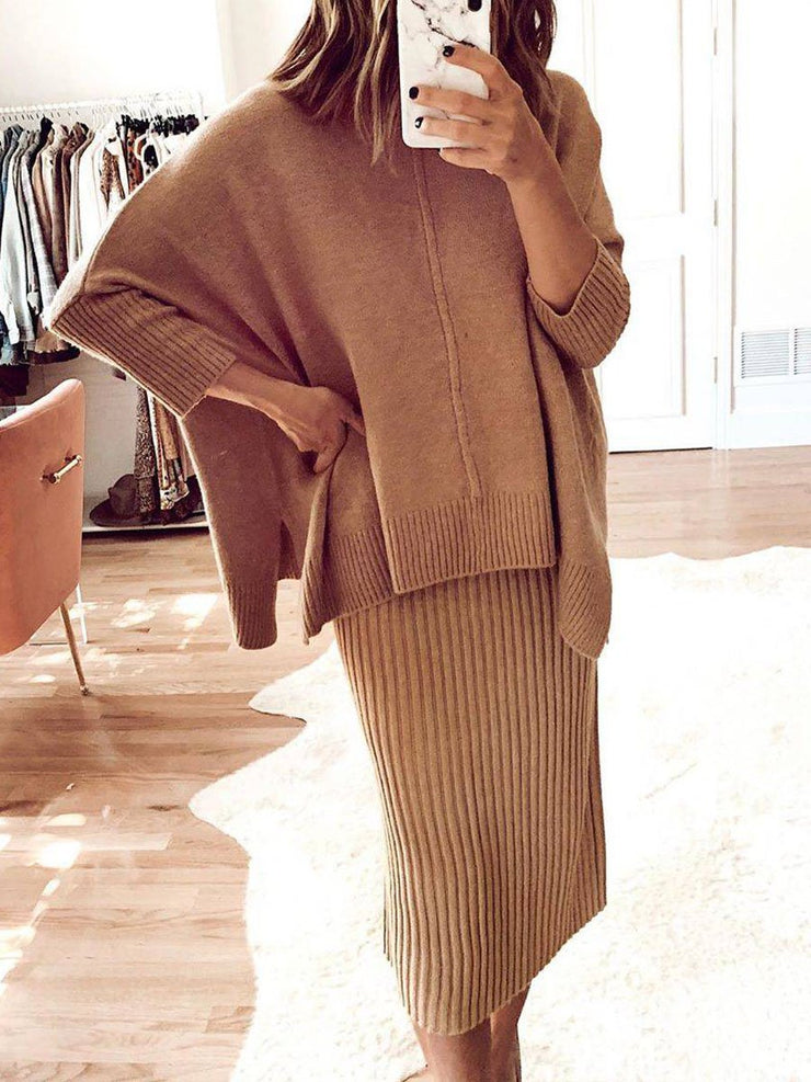 Knit Dress Casual Loose Suit