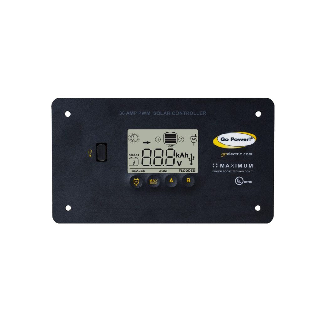 GP-PWM-30-UL Solar Controller with Lithium Battery Profile and Bluetooth Capability
