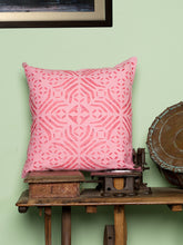 Load image into Gallery viewer, Applique, Handmade Cushion Cover, Kidd Design, Baby Pink