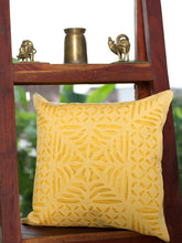 Load image into Gallery viewer, Applique, Handmade Cushion Cover, Gulchand Design, Beige