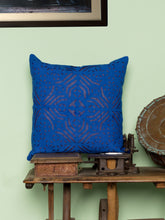 Load image into Gallery viewer, Applique, Handmade Cushion Cover, Kidd Design, Blue