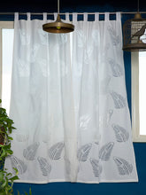 Load image into Gallery viewer, Applique, Handmade Curtains for Door/Window, Leaf Pattern, White