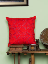 Load image into Gallery viewer, Applique, Handmade Cushion Cover, Diamond Design, Red