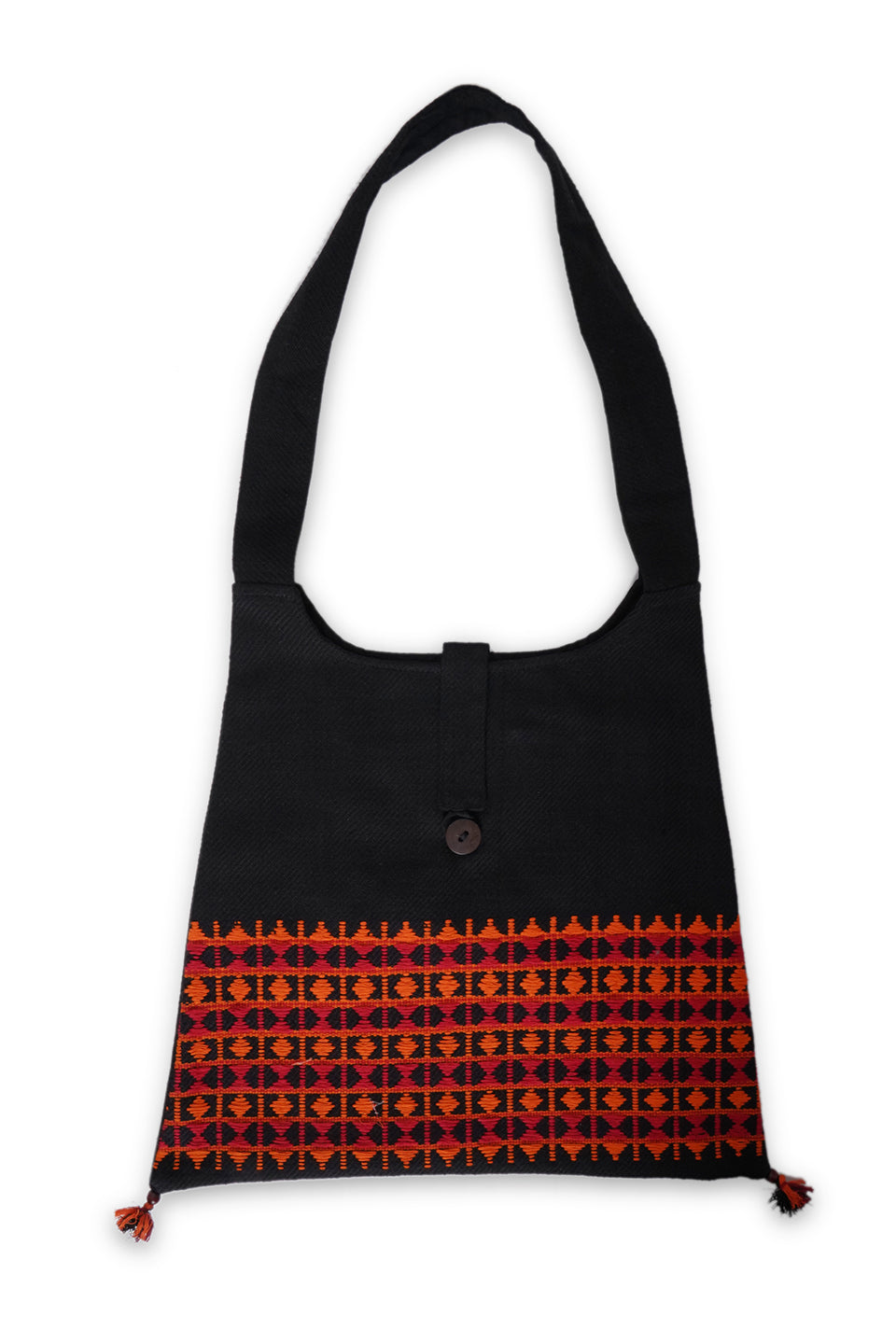 Handweaved Tote Bag, Red