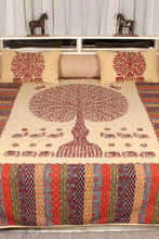 Load image into Gallery viewer, Tree of Life Bedcover, Maroon Color with Beige Base