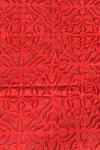 Load image into Gallery viewer, Mehndi Design Applique Bedcover, Red Color