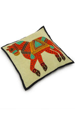 Load image into Gallery viewer, Horse Patch Work, Jogi Cushion Cover, Orange