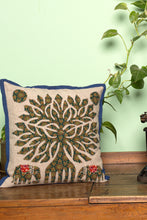 Load image into Gallery viewer, Tree of life Patch work, Jogi Cushion Cover, Dark Green