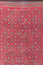 Load image into Gallery viewer, Ajrakh Print Scarf, Red