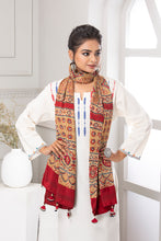 Load image into Gallery viewer, Ajrakh Print Stole, Beige