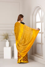 Load image into Gallery viewer, Ajrak Print Saree, Mustard