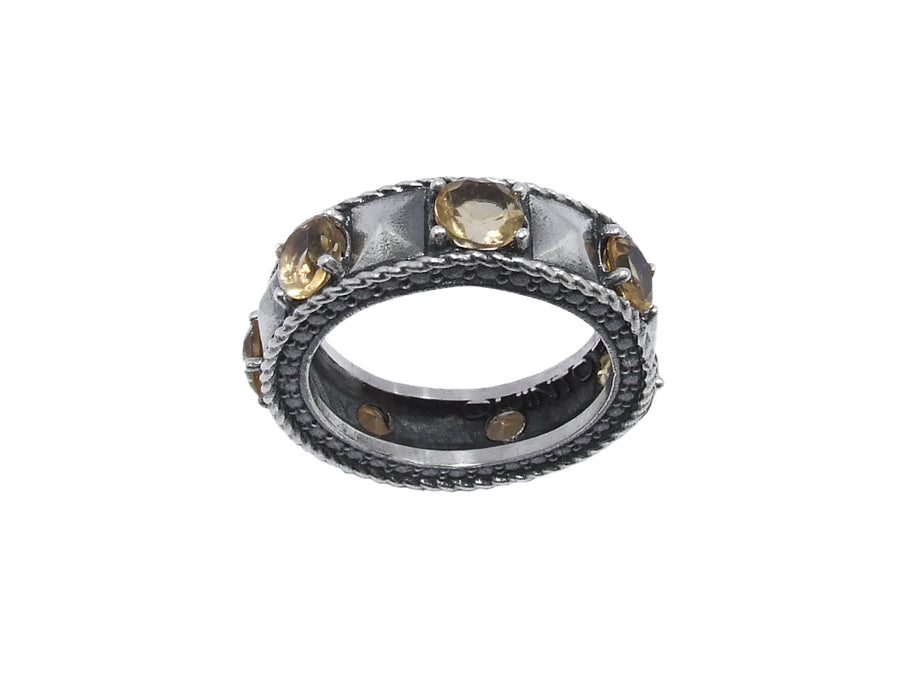 Anello Eternity - Citrino