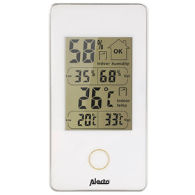 Alecto WS-75 - Digitales Innenthermometer, weiß