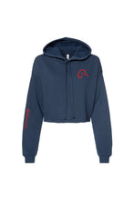 Load image into Gallery viewer, NAVY BLUE FLEECE HOODIE