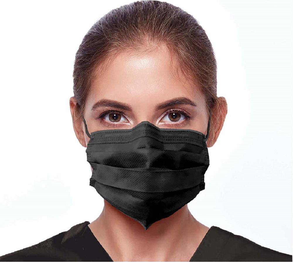 Disposable Face Covering / Face Mask in Black. - The Mask Angel