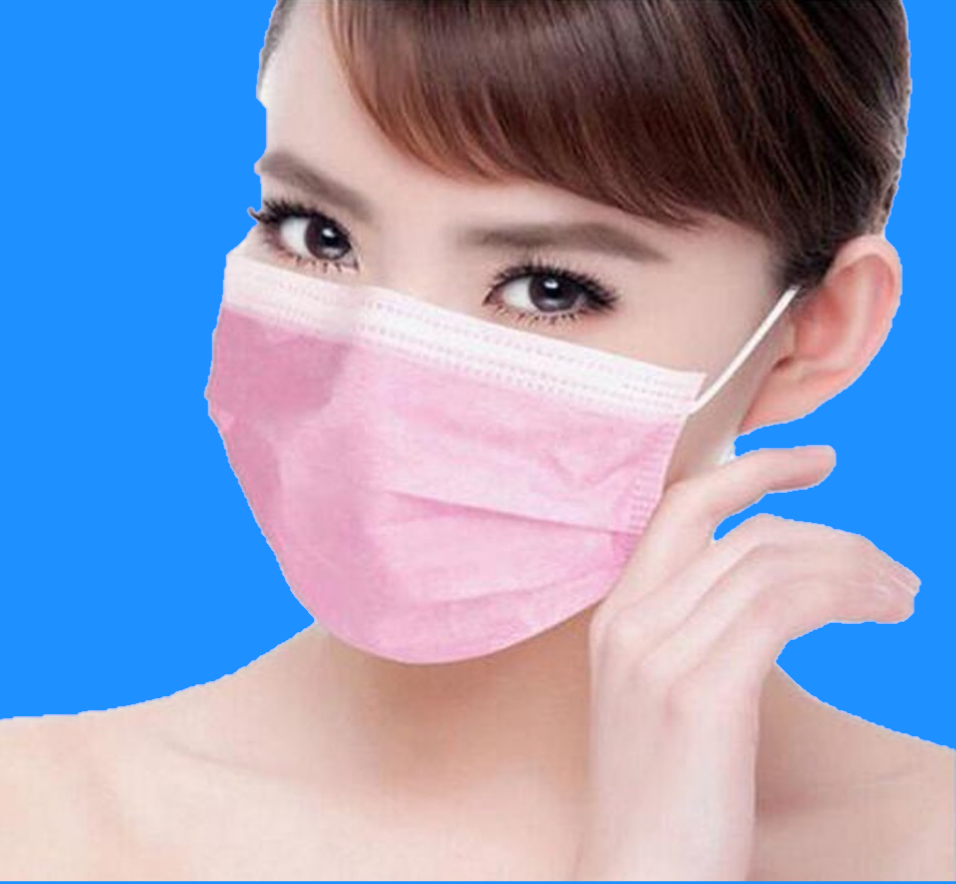 Disposable Face Covering/Face Mask in Pink - The Mask Angel