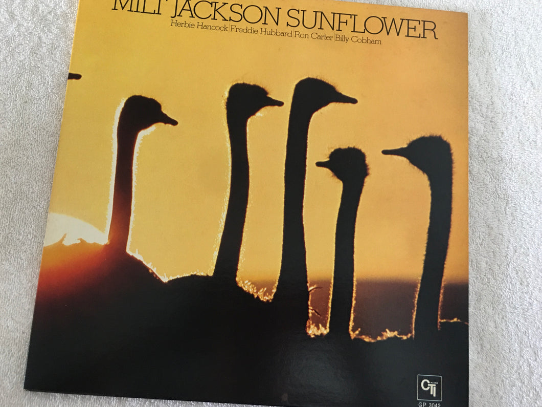 Milt Jackson, Sunflower, Japan Press Vinyl LP, CTI Records ‎– GP 3042, 1976, no OBI