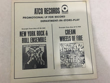Load image into Gallery viewer, New York Rock & Roll Ensemble / Cream ‎– Promotional LP For Record Department-In-Store-Play, Vinyl LP, White Label Promo, ATCO Records ‎– LS-ST 119/120, 1968, USA