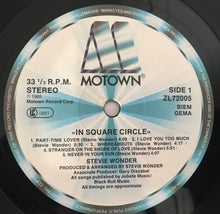 Load image into Gallery viewer, Stevie Wonder ‎– In Square Circle, Vinyl LP, Motown ‎– ZL 72005, 1985, Europe