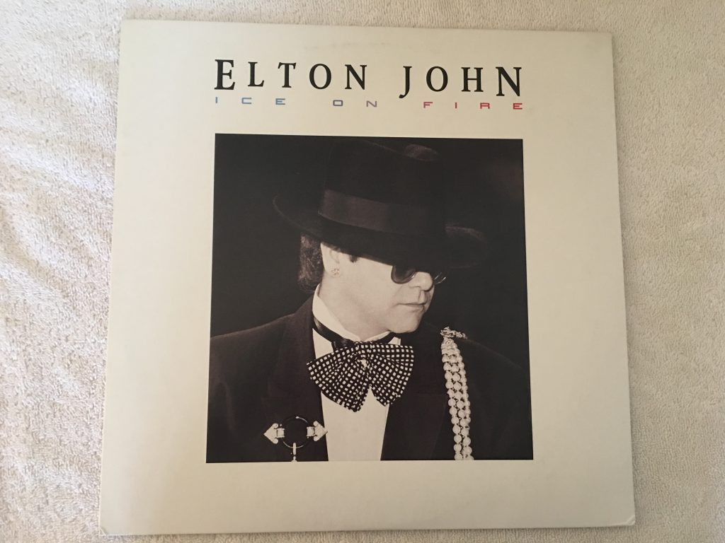 Elton John ‎– Ice On Fire,  Japan Press Vinyl LP, The Rocket Record Company ‎– 28PP-1014, 1985, no OBI