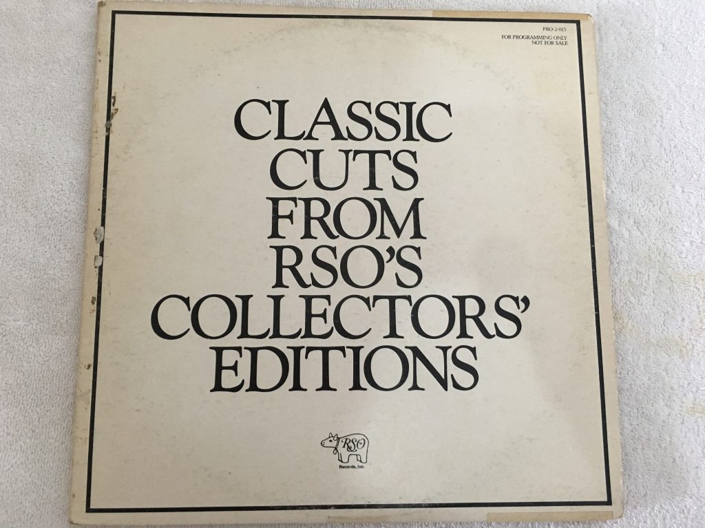 Eric Clapton ‎– Classic Cuts From RSO's Collectors' Editions, 2 x Vinyl LP, White Label Promo, RSO ‎– PRO-2-015, 1980, USA