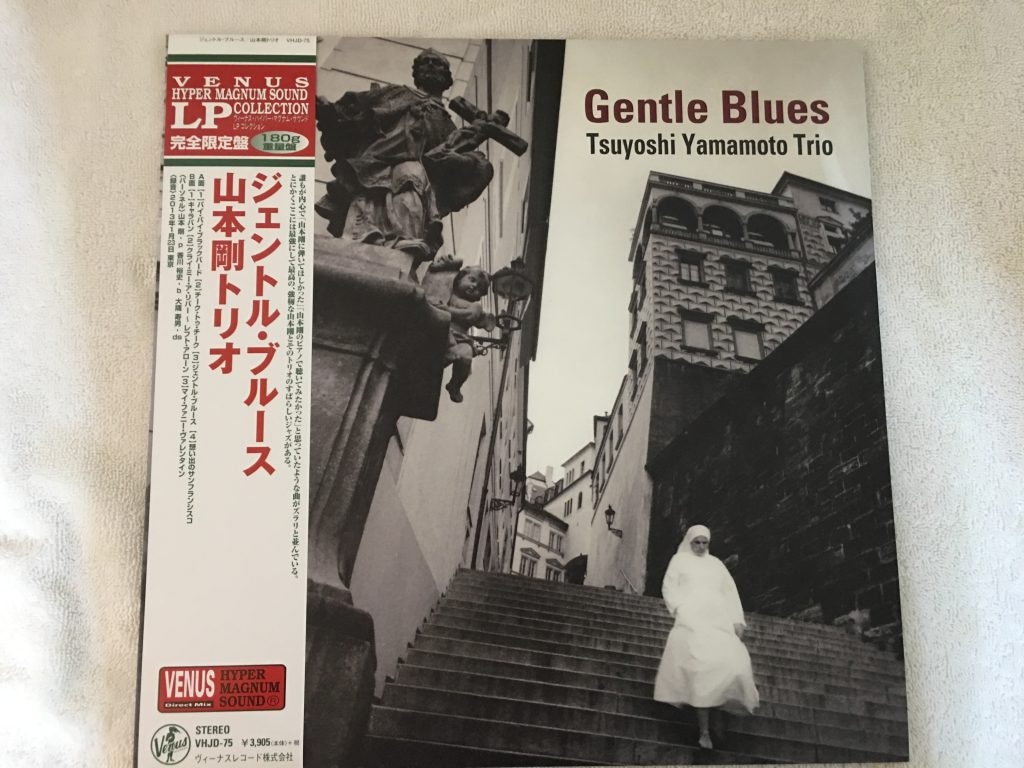 Tsuyoshi Yamamoto Trio ‎– Gentle Blues, Japan Press Vinyl LP,  Venus Records ‎– VHJD-75, 2013, with OBI