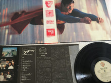 Load image into Gallery viewer, John Williams ‎– Superman The Movie (Original Sound Track), Japan Press 2x Vinyl LP, Warner Bros. Records ‎– P-5557~8W, 1978, with OBI