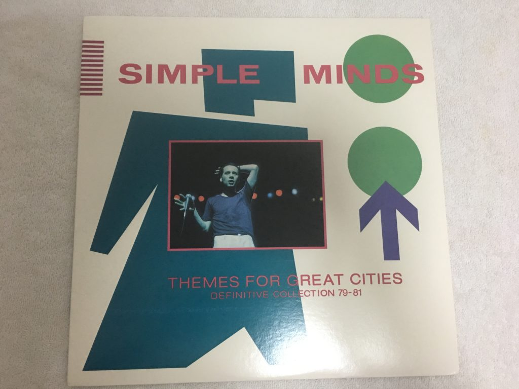Simple Minds ‎– Themes For Great Cities (Definitive Collection 79-81), Vinyl LP, Stiff America ‎– TEES 102, 1981, USA