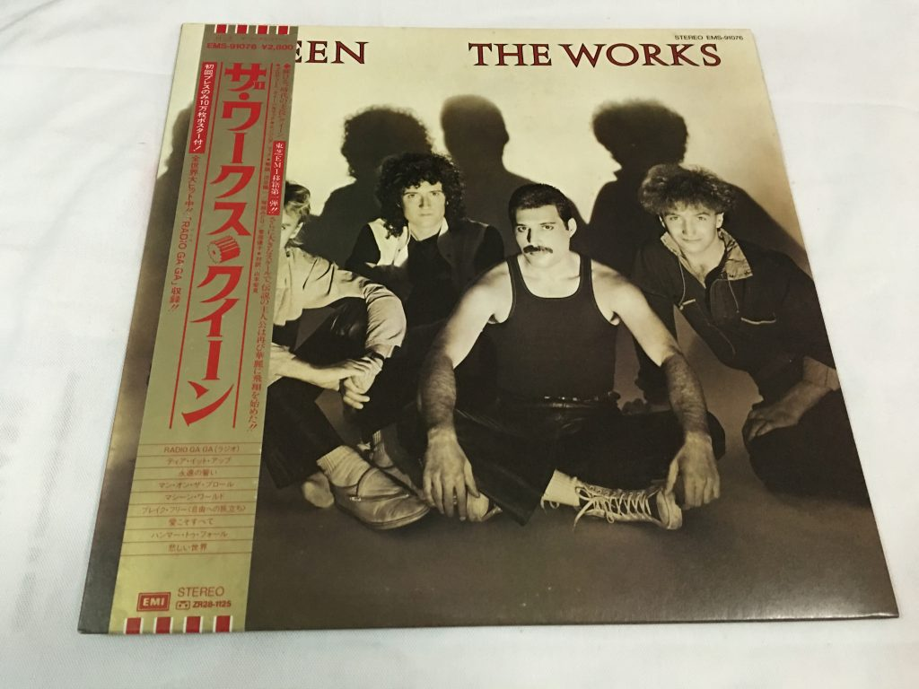 Queen, The Works, Japan Press Vinyl LP, EMI ‎– EMS-91076, 1984, with OBI